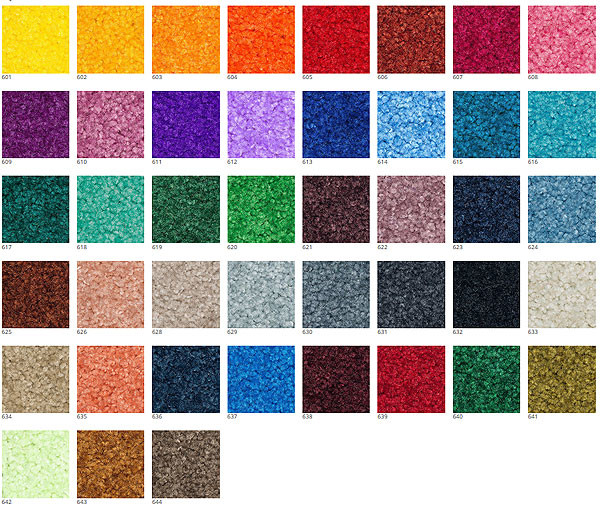 Цветовая палитра ковриков с логотипом
